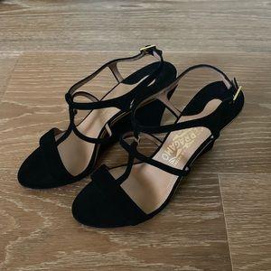 Ferragamo black suede sandal